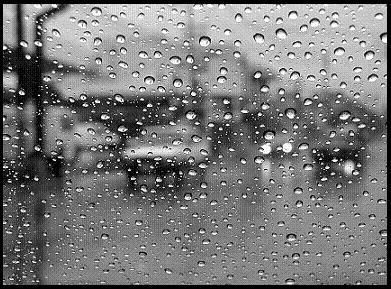cristal bus lluvia
